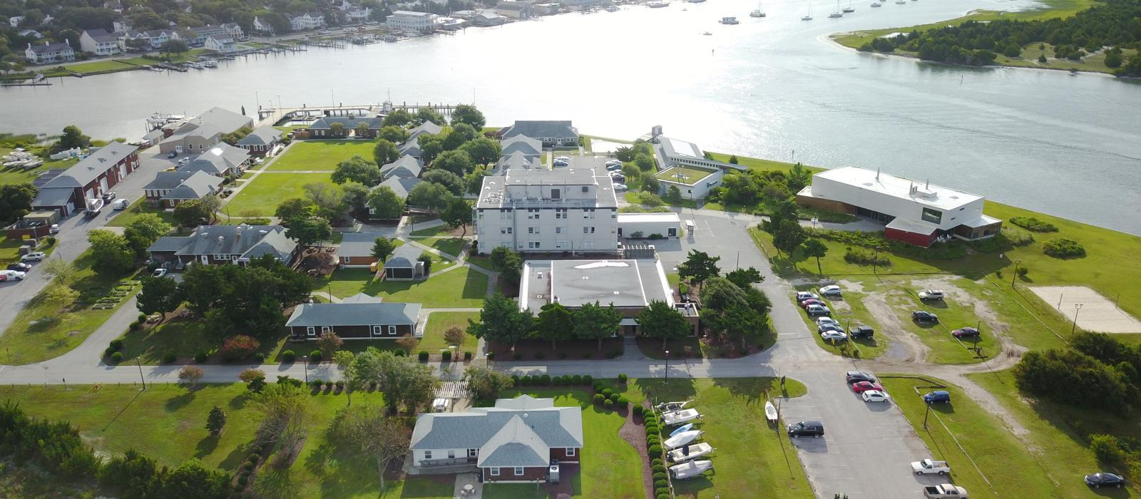 Marine Lab campus aerial shot