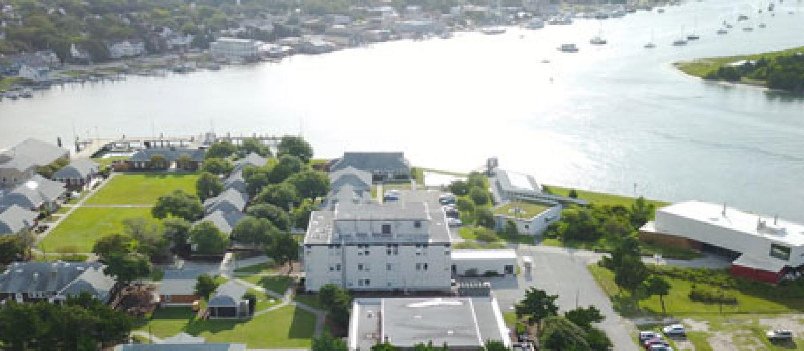 Aerial view of the Marine Lab campus