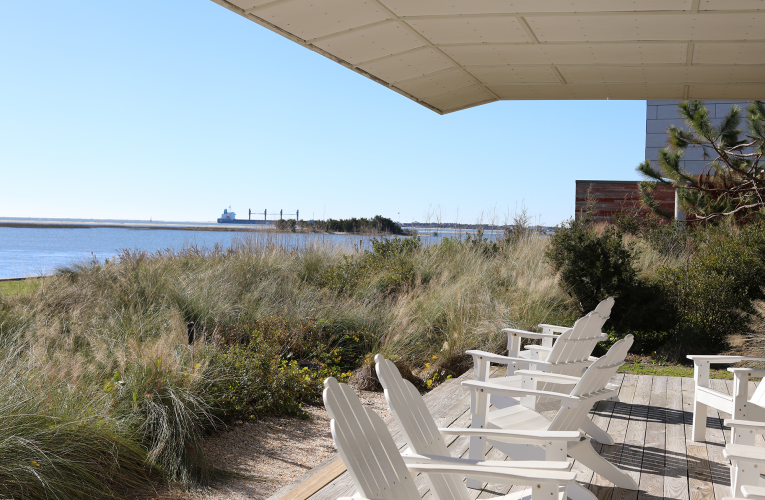 front porch at Marine Lab DUML