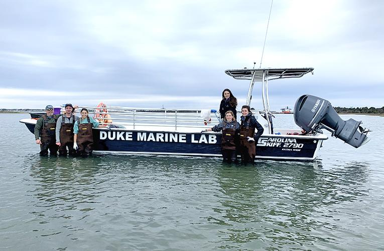 RV Kirby-Smith DUML Duke Marine Lab - group photo with Tom Schultz