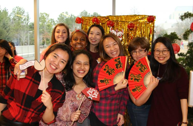 Students at the Nicholas School Lunar New Year celebration