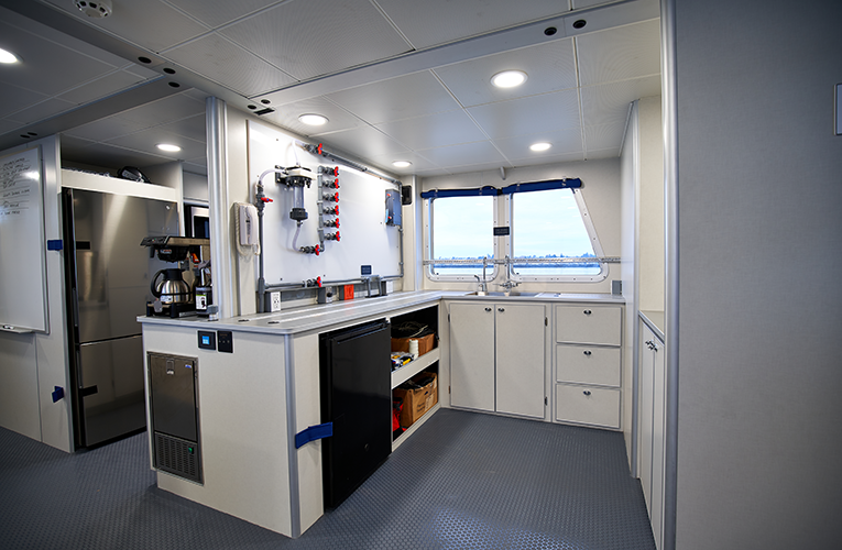RV Shearwater interior kitchen