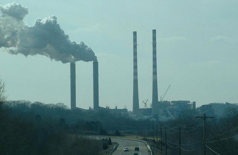 Smokestacks billowing emissions