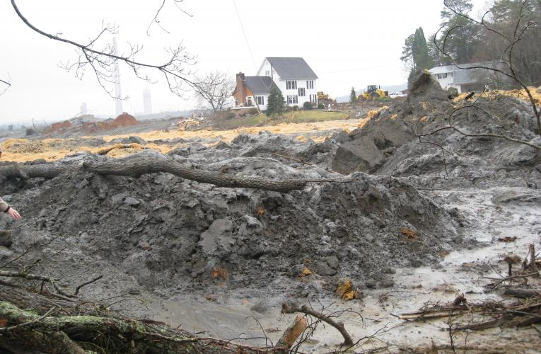 coal ash waste from TVA spill in 2008