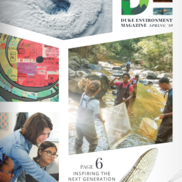 Duke Environment Magazine cover Spring '19